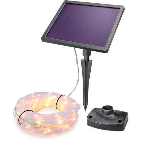 Solar PREMIUM Lichtschlauch 200 LED warmweiß Party Weihnachtsdeko esotec 102572