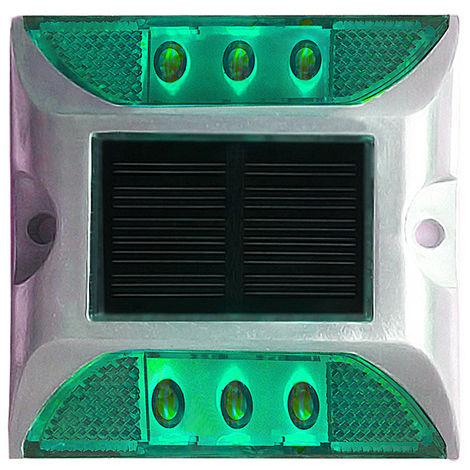 Solar Road Light Outdoor Waterproof Ground Street Light Green 1 Pack
