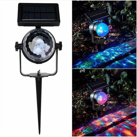"main image of ""Solar Rotating LED Projection Light"""