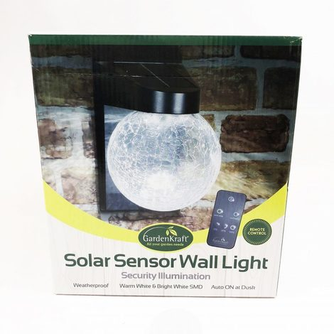 Solar Sensor Dusk Till Dawn Wall Light
