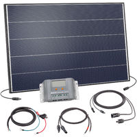 Solar Set 125W Bausatz 12 Volt Solaranlage Inselanlage Camping, esotec 120054