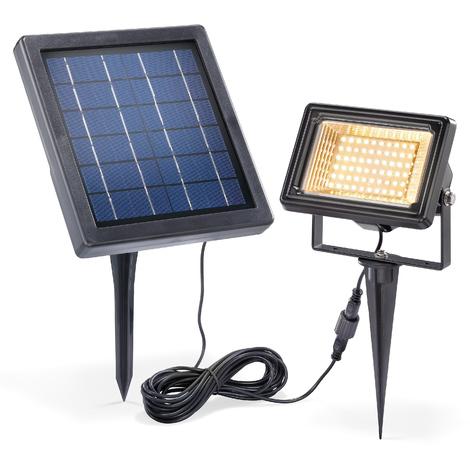 Solar Strahler 3000k Warmweiß Flutlicht Solarlampe Garten Fluter