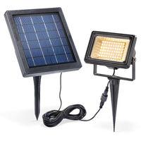 Solar Strahler 3000K warmweiß Flutlicht Solarlampe Garten Fluter esotec 102360
