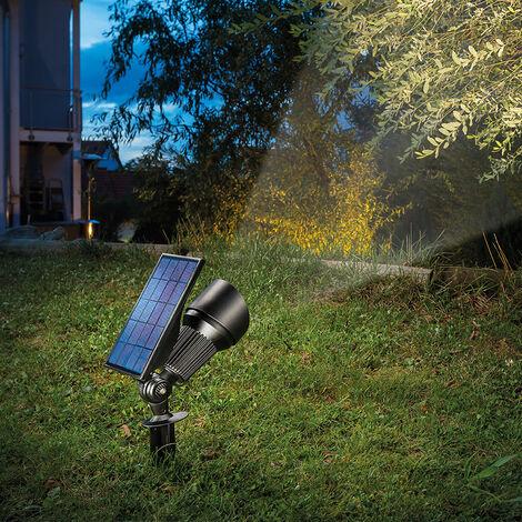 Solar Strahler Superspot Warm Kaltweiß Solarleuchte Led Garten