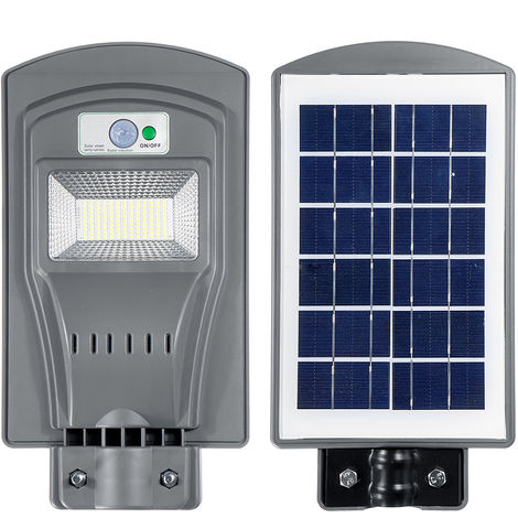 Solar Straßenlaterne Induktion Gartenlampe Solar Sensor Fernbedienung