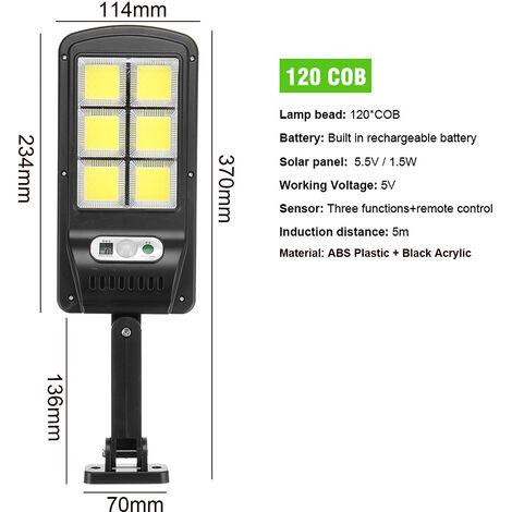 Solar Street 120COB Light PIR Motion Sensor Induction Wall Road Lamp NO remote control