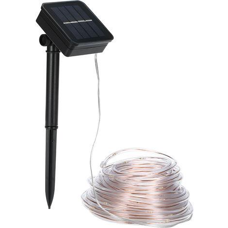 Solar String Light 120LED Light with Tube Light String