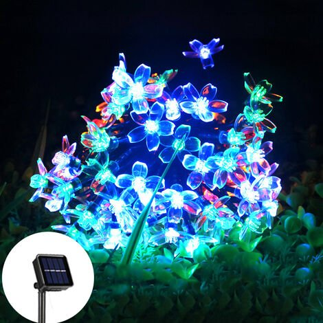 """main image of """"Solar String Lights, 50 LED Blossom Solar Powered Outdoor Fairy Garden Lights 8 Modes Color Changing Waterproof Flower Solar Lights for Patio, Yard, Tree, Home, Lawn, Wedding, Party"""""""