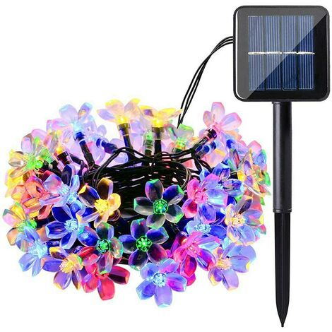 """main image of """"Solar String Lights, 60 LED Blossom Solar Powered Outdoor Fairy Garden Lights 36Ft 8 Modes Color Changing Waterproof Flower Solar Lights for Patio, Yard, Tree, Home, Lawn, Wedding, Party"""""""