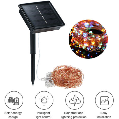 Solar String Lights 72ft 200 LED Rope Light 8 Modes Multicolor Lights for Party Garden Home Festival Decoration