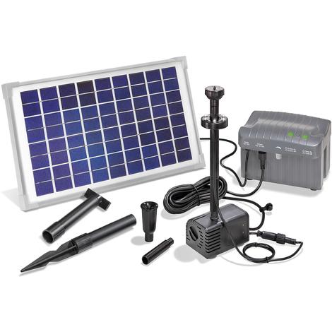 Super Solar Teichpumpe mit Akku 10W Solarpumpe Gartenteichpumpe Teich LI94