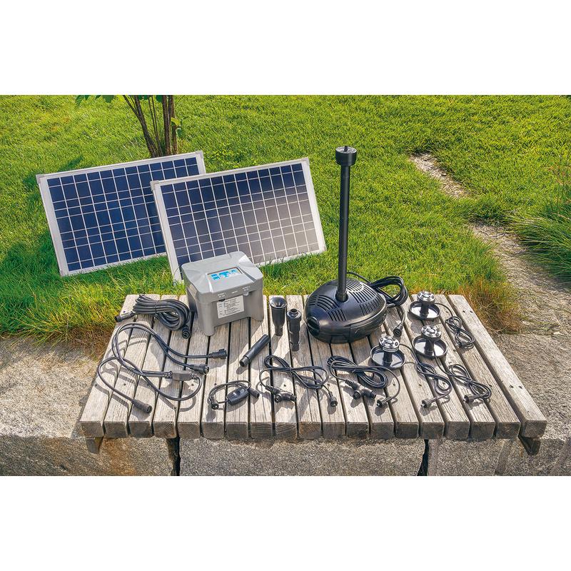 Top Solar Teichpumpe mit Akku 50W Solarpumpe Gartenteichpumpe Teich QM96
