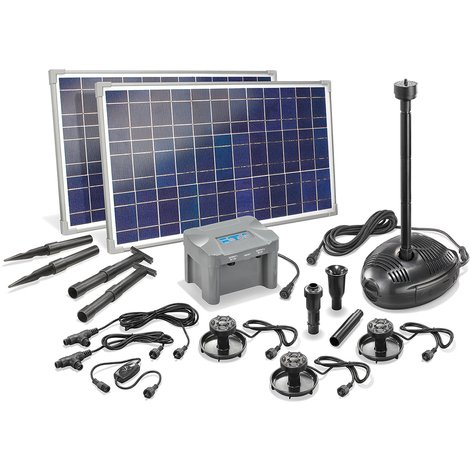 Beliebt Solar Teichpumpe mit Akku 50W Solarpumpe Gartenteichpumpe Teich HC71
