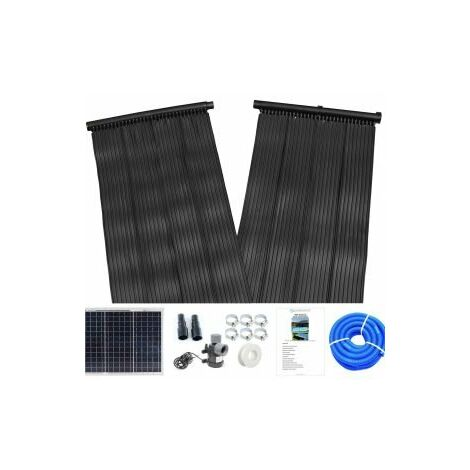Solar Thermal Water Heater Mat Pump and 20W Solar Panel Kit