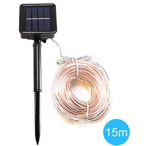 Solar tube light string outdoor holiday waterproof decorative lights, 15m