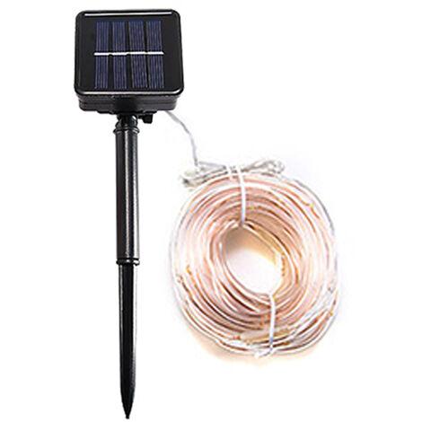 Solar tube light string outdoor holiday waterproof decorative lights