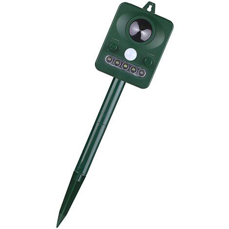 Solar ultrasonico del parasito al aire libre del reflector del animal con el sensor de movimiento y sonido ultrasonico luz que destella de mantener a los animales lejos del repulsivo ardillas raton Pajaro del gato del perro Bat