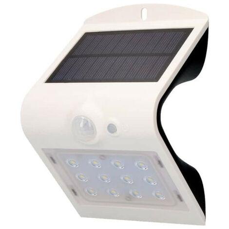 Solar wall lamp with EDM Led Sensor 1,5W 220 Lumens 10x14cm - White