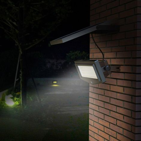 Solar Wall Lamp with Motion and Dusk Till Dawn Detectors 44 LEDs 1K Lumen NEW FLEXIBLE