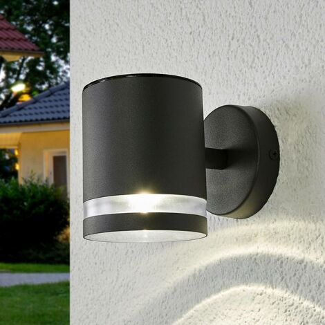 Solar Wall Light 'Melinda' (modern) in Silver made of Stainless Steel (1 light source, A+) from Lindby | solar lamp, garden solar light