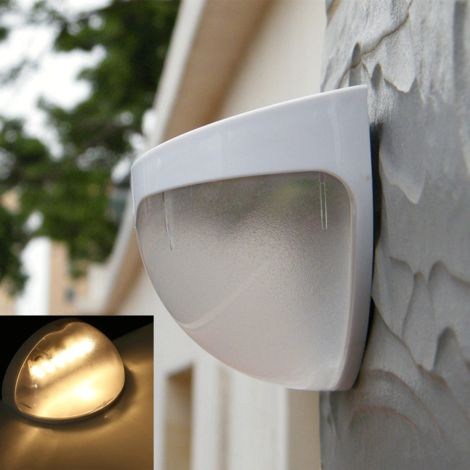 Solar wall light wall light without battery warm white