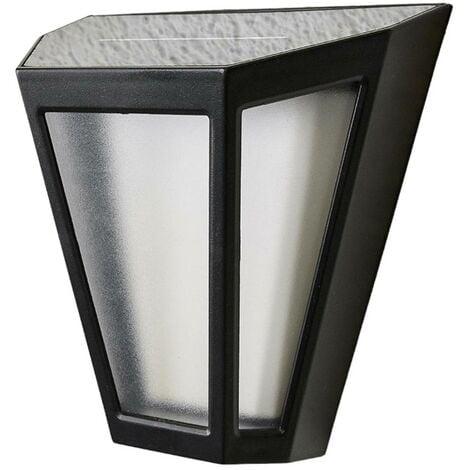 Solar Wall Light 'Yago' (modern) in Black (4 light sources, A+) from Lindby | solar lamp, garden solar light
