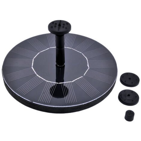 """main image of """"Solar Water Fountain Pump with Different Nozzles 1.4W Solar Panel for Bird Bath Pond Garden Swimming Pool Outdoor Fountain,model:Black"""""""