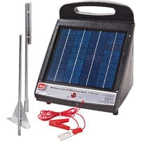 Solar Weidezaungerät MAMMUT-SOLAR-1100 6 V Erdspieß Solarpanel Weidegerät