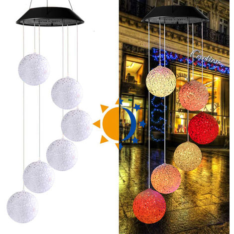 Solar wind chime solar light solar color wind chime particle ball led light solar garden light