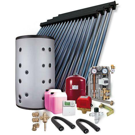 Solaranlage Paket HP30 19,56m² Vakuumröhrenkollektor Frischwasserspeicher 1000l