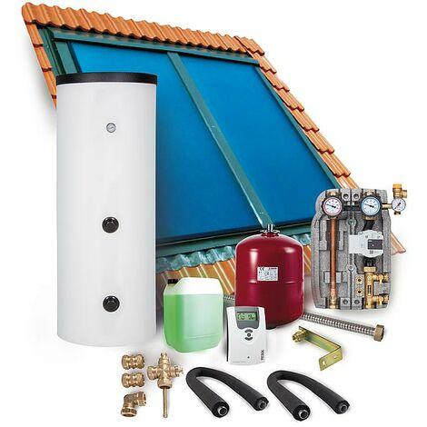 Solaranlage Paket Warmwasser Indachkollektor Flachkollektoren 8,08m² Solar 400l