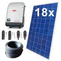 Solaranlage PV-Komplettset 5,04 KWp 3-Phasig Fronius 18 Module Photovoltaikanlage Ziegeldach