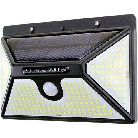 Solares luces al aire libre 218 LED Bombillas IP65 a prueba de agua montado en la pared de la lampara con sensor de movimiento de ahorro de energia versatil
