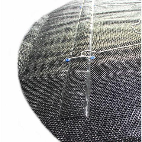 Solarfolie schwarz 400my mit 80cm für Aufrollvorrichtung für Ovalformbecken