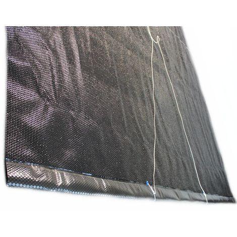Solarfolie schwarz 400my mit 80cm für Aufrollvorrichtung für Rechteckbecken