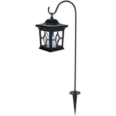 Solarlampe Gartenlicht Laterne Metall Schwarz Leuchte