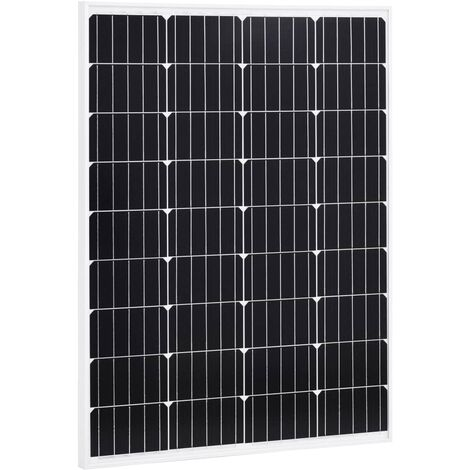 Solarmodul 100 W Monokristallin Aluminium und Sicherheitsglas