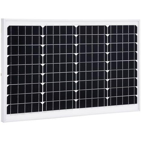 Solarmodul 40 W Monokristallin Aluminium und Sicherheitsglas