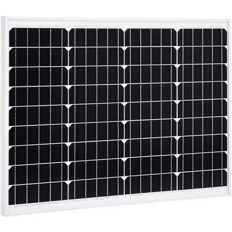 Solarmodul 50 W Monokristallin Aluminium und Sicherheitsglas