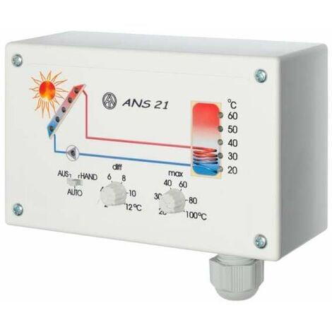 Solarreglung Einkreisreglung TechnischeAlternative ANS 21 Differenztemperaturregler