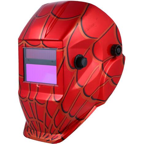 Solarschweisserschutzmaske mit einer schwarzen Halterung SZ-ASTS1 (rotes Spinnennetz)