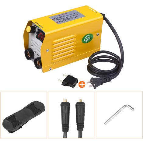 Soldador de arco 250Amps LCD de la maquina de soldadura electrica Soldador portatil Mini antiadherente para 2.5-3.2mm Varillas para trabajos de soldadura electrica, 1 #