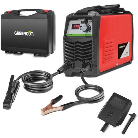 """main image of """"Soldador inverter MMA180 de corriente continua, potencia entre 25A-180A, voltaje 230V, tecnología IGBT, kit electrodos entre 2mm-4mm - Greencut"""""""