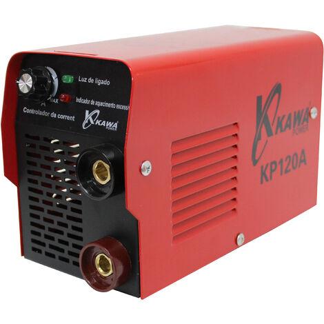 Soldador Inverter Soldadora Equipo de Soldadura Electrodo hasta 4.0mm/Maquina de Soldar (120 A, Suelad hasta 3,25mm, IGBT, Pantalla LED, incl. accesorios) Maquina de Soldar - Kawapower