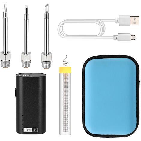 Soldador portatil recargable USB de 5 V para el hogar, maquina de soldadura electrica multifuncion de alta potencia de 40 W