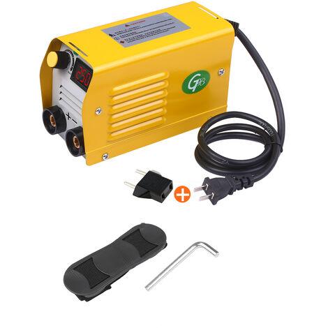 Soldadora de arco, maquina de soldadura LCD de 250 amperios, para varillas de 2,5-3,2 mm para trabajos electricos de soldadura