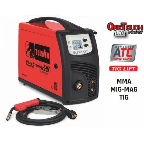 Soldadora inverter MIG-MAG/FLUX/BRAZING/MMA/TIG DC Lift TELWIN Electromig 220