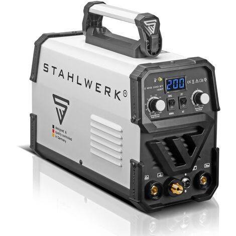 Soldadura STAHLWERK DC TIG 200 ST IGBT - Máquina de soldadura combi con 200 amperios y MMA soldadura de electrodos, 7 años de garantía*