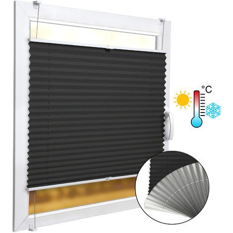 SolDecor P42 Store plissé Isolant Thermique bi Colore - Anthracite