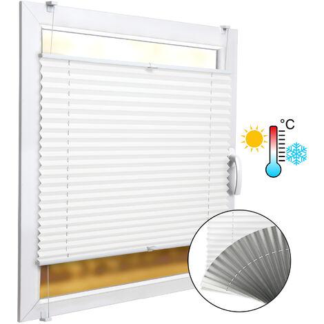 SolDecor P42 Store plissé Isolant Thermique bi Colore - Blanc